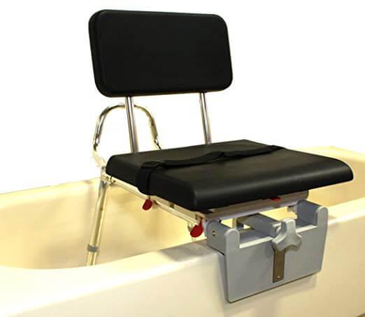 No Tool Assembly Rust-Resistance Grab Bar Eagle Health Supplies Tub-Mount Swivel Sliding Shower Transfer Bench 360 degree swivel
